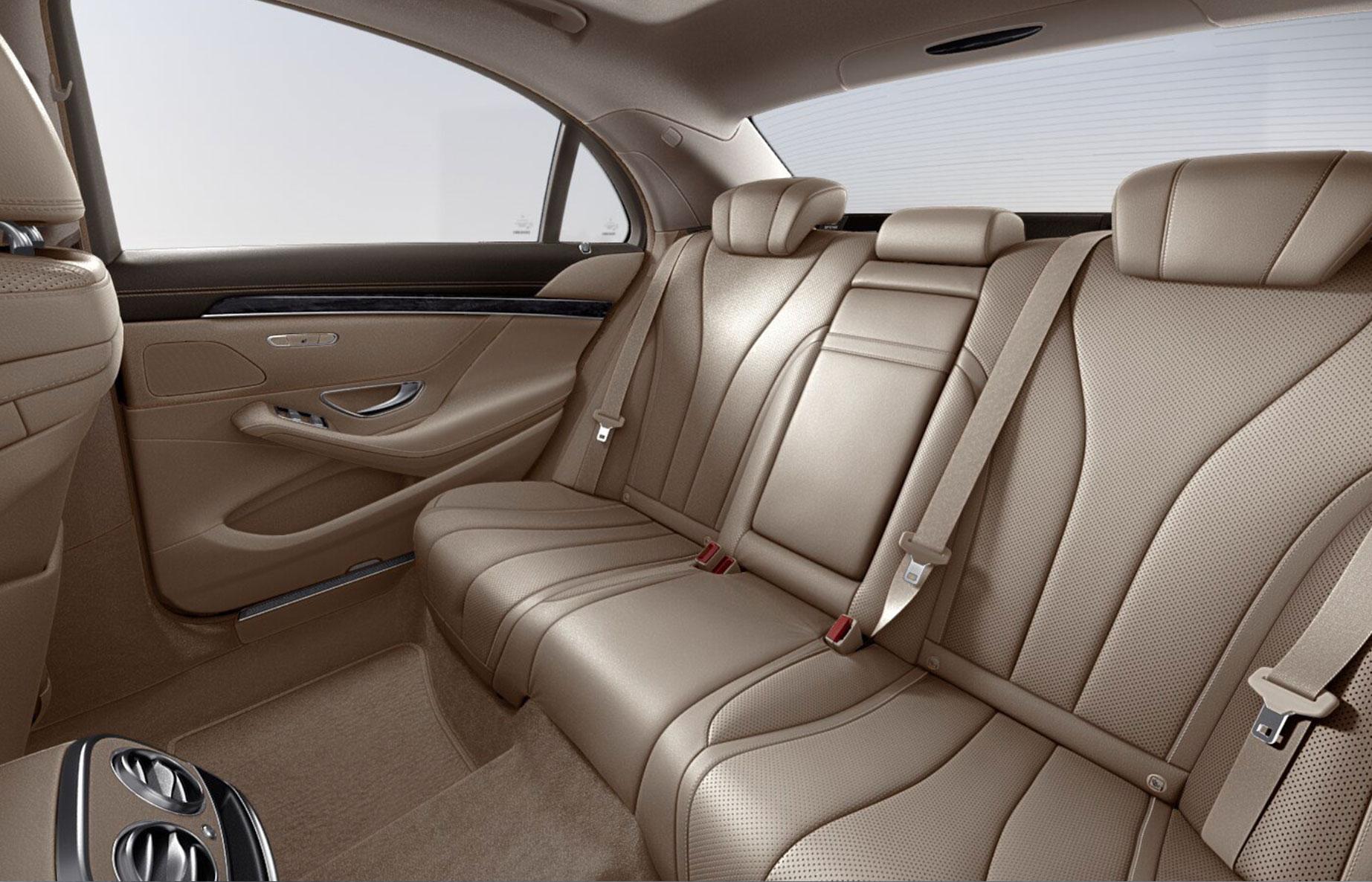 Executive Chauffeur Hire Milan - S Class Interior